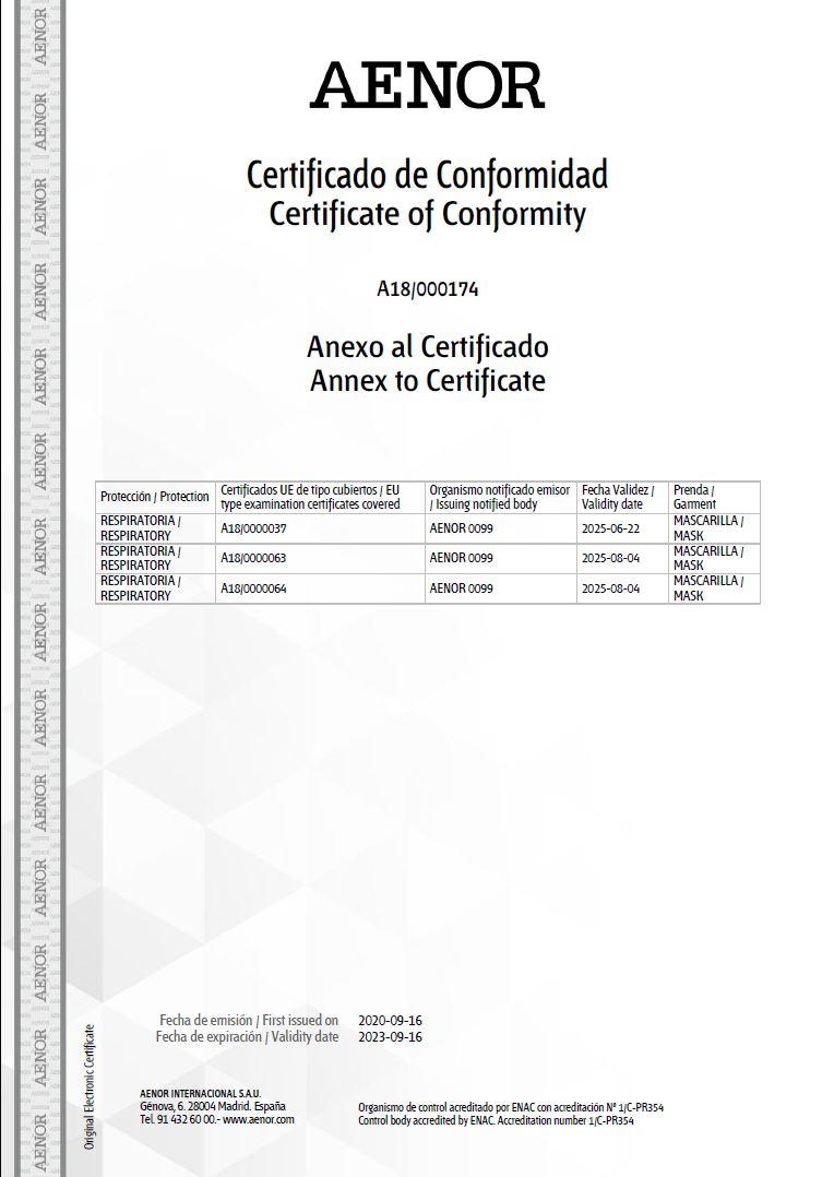 Certificado CE Aenor 2
